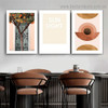 Sun Light Abstract Botanical Typography Scandinavian Framed Artwork Picture Canvas Print for Room Wall Ornament