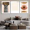 Sun Light Abstract Botanical Typography Scandinavian Framed Artwork Photo Canvas Print for Room Wall Adornment