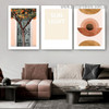 Sun Light Abstract Botanical Typography Scandinavian Framed Artwork Image Canvas Print for Room Wall Decoration
