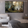 Black Bears Contemporary Animal Wildlife Photo Canvas Print for Lounge Room Wall Decor