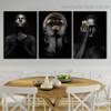 Auric Hair Fashion Figure Modern Framed Portrait Painting Canvas Print for Room Wall Garniture
