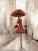The Parasols Colleens Abstract Modern Watercolor Figure Painting Picture Print