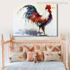 Big Cock Modern Animal Abstract Watercolor Painting Portrait Print Kids Room Wall Getup