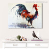 Big Cock Modern Animal Abstract Watercolor Painting Portrait Print