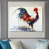 Big Cock Modern Animal Abstract Watercolor Painting Portrait Print for Lounge Room Wall Outfit
