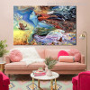 Dreamlike Girl Animal Botanical Abstract Modern Figure Painting Picture Print for Lounge Room Wall Getup
