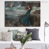 Miranda The Tempest Vintage Figure Mix Artists Painting Canvas Print for Lounge Room Wall Flourish