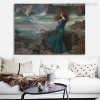 Miranda The Tempest Vintage Figure Mix Artists Painting Canvas Print for Living Room Wall Drape