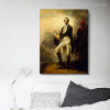 George Washington Vintage Figure Mix Artists Painting Print for Room Wall Garnish