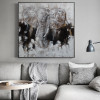 Elephant Face Abstract Modern Heavy Texture Animal Painting Picture Canvas Print for Lounge Room Wall Getup