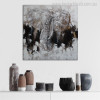 Elephant Face Abstract Modern Heavy Texture Animal Painting Picture Canvas Print for Living Room Wall Garniture