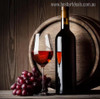 Black Wine Bottles Contemporary Food and Beverage Painting Canvas Print