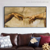 Touch of God Renaissance Mix Artists Painting Portrait Canvas Print for Living Room Wall Outfit