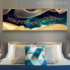 Chinese Fish Abstract Modern Panoramic Picture Print for Bedroom Room Wall Molding