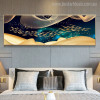 Chinese Fish Abstract Modern Panoramic Picture Print for Bedroom Room Wall Garniture