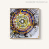 Annual Rings Abstract Watercolor Vignette Canvas Print