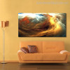 Colorific Clouds Modern Abstract Canvas Artwork Portrait Print for Home Wall Decor