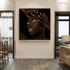 Black Lady Modern Figure Painting Canvas Print for Wall Hanging Decor
