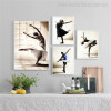 Dancer Wenches Modern Figure Canvas Artwork Print for Living Room Wall Flourish