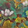 Lotus Botanical Watercolor Painting Canvas Print