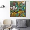 Lotus Botanical Watercolor Painting Canvas Print for Room Wall Onlay