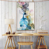 Dark Spots Abstract Modern Watercolor Painting Canvas Print for Room Wall Getup