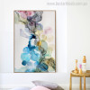 Dark Spots Abstract Modern Watercolor Painting Canvas Print for Living Room Wall Decor