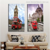 Cathedral and Tower Cityscape Contemporary Picture Print for Living Room Wall Getup