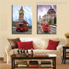 Cathedral and Tower Cityscape Contemporary Picture Print for Room Wall Decor