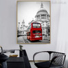 Cathedral Church Cityscape Modern Religious Painting Canvas Print for Home Wall Outfit