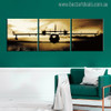 Bomber Plane Travel Modern Abstract Painting Canvas Print for Living Room Wall Outfit