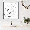 Fish Minimalist Animal Abstract Modern Canvas Artwork Print for Room Wall Decor