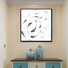 Fish Minimalist Animal Abstract Modern Canvas Artwork Print for Room Wall Drape