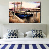 Boat in Bay Nature Landscape Modern Wall Art Print for Bedroom Wall Disposition