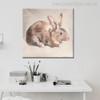 Rabbit Abstract Modern Animal Wall Art Print for Room Wall Decor