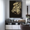 Angry Lion Modern Animal Painting Canvas Print for Wall Adornment