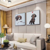 Dog Breed Abstract Animal Painting Canvas Print for Room Wall Outfit