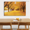 Golden Trees Nature Modern Botanical Picture Canvas Print for Dining Room Wall Decor