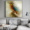Hued Kingfisher Abstract Watercolor Animal Painting Canvas Print for Lounge Room Wall Finery