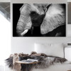 Wild Elephant Animal Modern Painting Canvas Print for Living Room Wall Adornment