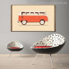 Volkswagen Kombi Vintage Nordic Minimalist Painting Canvas Print for Room Wall Decor