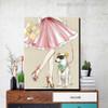 Pet Dog Animal Modern Canvas Artwork Print for Living Room Wall Trimming