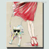 Girl with Dog Animal Modern Canvas Artwork Print