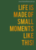 Moments Like This Botanical Nordic Quotes Painting Canvas Print