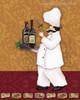 Champagne Bottle Cap Modern Food & Beverage Canvas Artwork Print