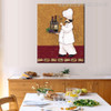 Champagne Bottle Cap Modern Food & Beverage Canvas Artwork Print for Dining Room Wall Getup