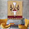 Champagne Bottles Modern Food & Beverage Painting Canvas Print for Room Wall Finery