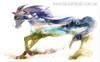 Abstract Horse Nordic Animal Abstract Modern Painting Canvas Print