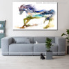 Abstract Horse Nordic Animal Abstract Modern Painting Canvas Print for Living Room Wall Moulding