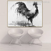 Cock Bird Animal Abstract Contemporary Painting Canvas Print for Living Room Wall Flourish